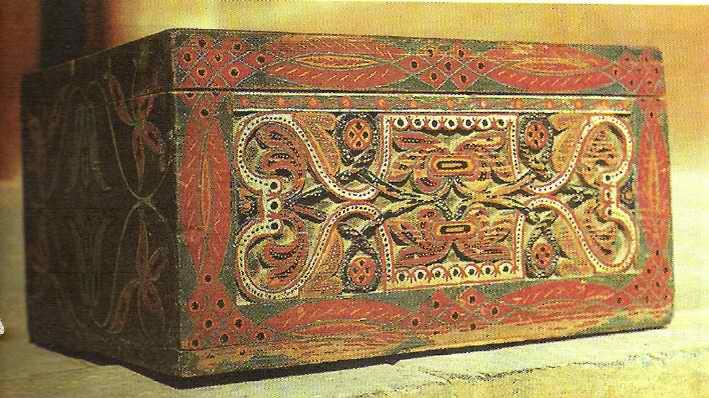 Роспись тарелка с орнаментом