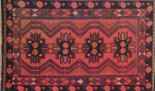 Казахские ковры - традиционное ткачество.